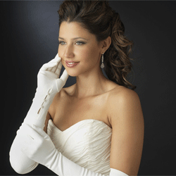 Button Accented Opera Gloves
